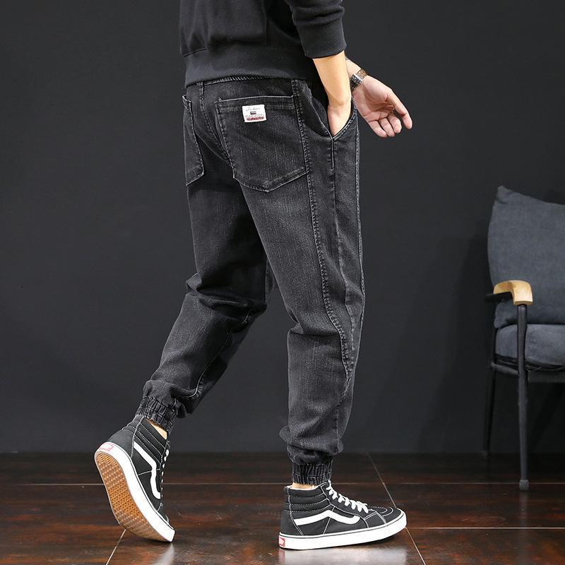 2021 Neue japanische vintage mode männer jeans plus größe spleißet designer cargo hosen breite bein winter velvet warme hip hip hop jogger f9sq