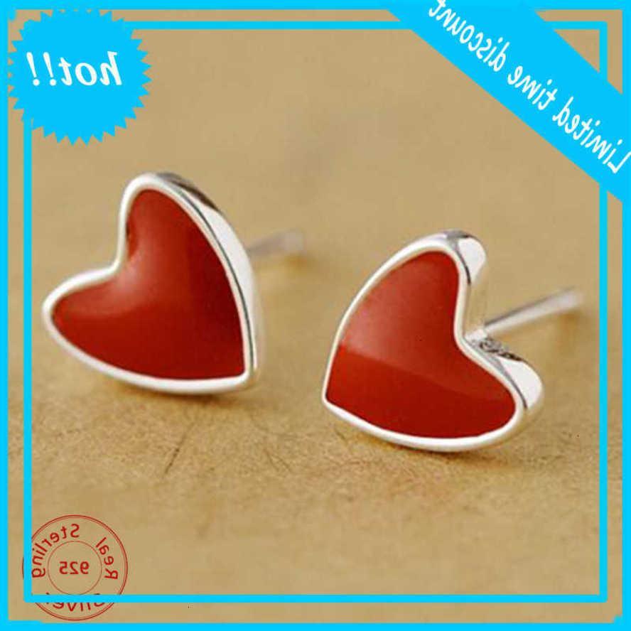 Сердце, полное любви стерлингового серебра 925 серебра для женщин мода европейские и американские ухо ювелирные изделия