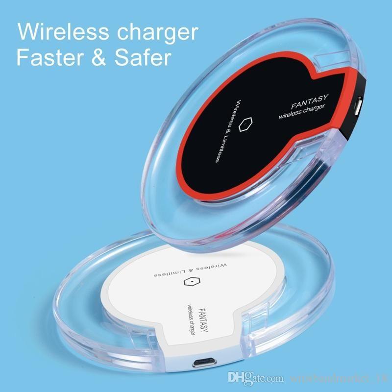 Qi K9 telefone sem fio carregador portátil fantasia cristal universal led iluminação tablet carregamento para s9 s8 telefone 8
