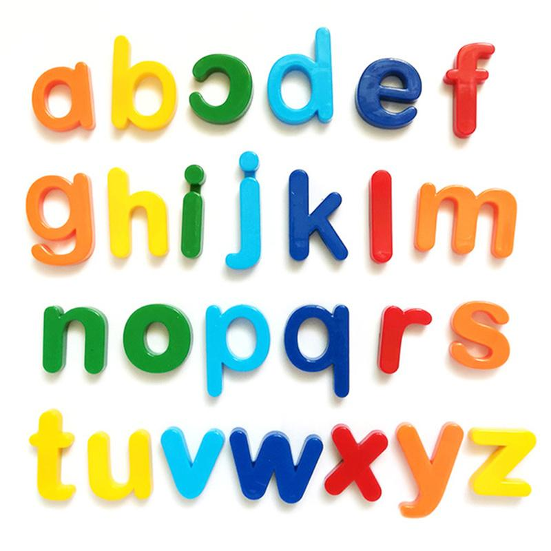 Counting & Time 26pcs Magnetic Learning Alphabet Letters Plastic Refrigerator Stickers Toddlers Kids Spelling Educational Toys