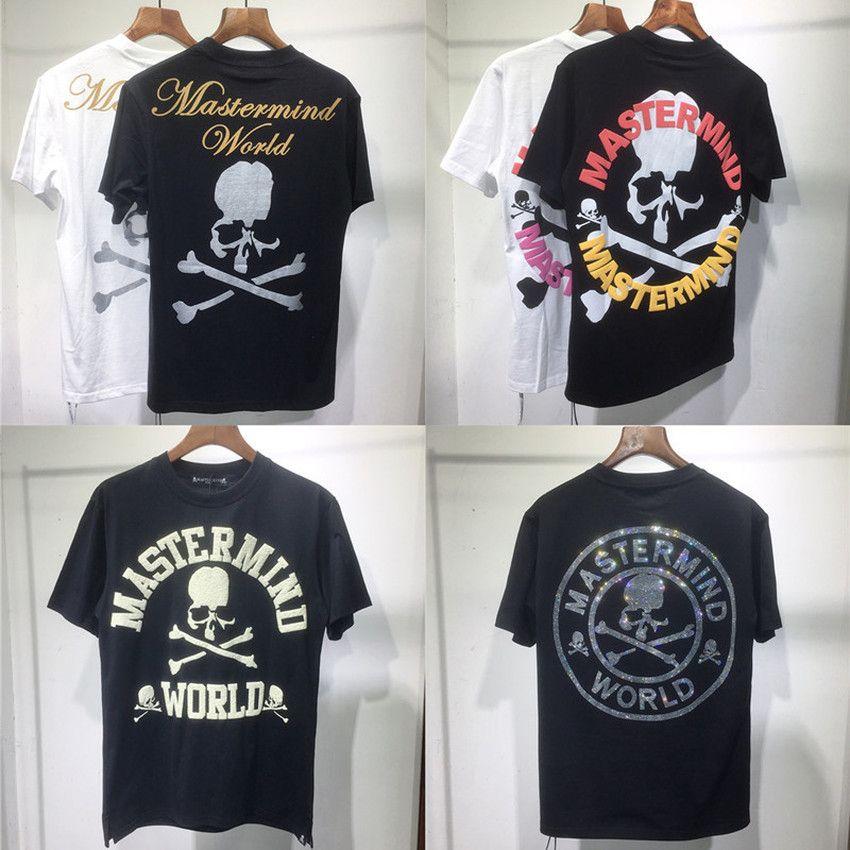 2021 Neue Schaumdrucken MasterMind World Japan MMJ T-Shirt Männer Frauen 1: 1 Hochwertiger Schädel-Druck Casual Unisex T-Shirts T-Shirts Tees Kleidung S0E