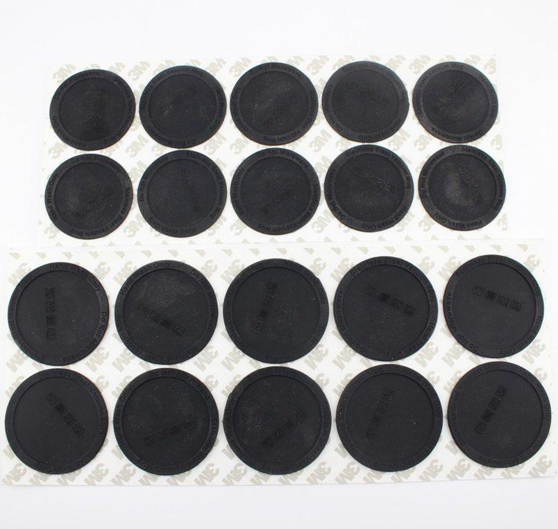 15oz 20 oz için Kauçuk Alt 30oz Skinny Tumbler Siyah Coaster Sticker Kauçuk Yapıştırıcı Alt Siyah Alt Koruyucu Kapak Cap WWA141