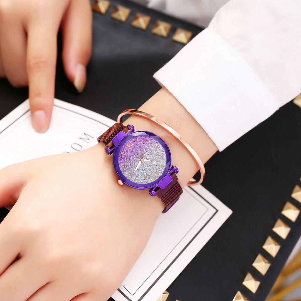 Women Magnet Boucle Gradient Gradient Montre Luxe Mesdames Quartz Montres Gift Horloge Relogio Feminino10