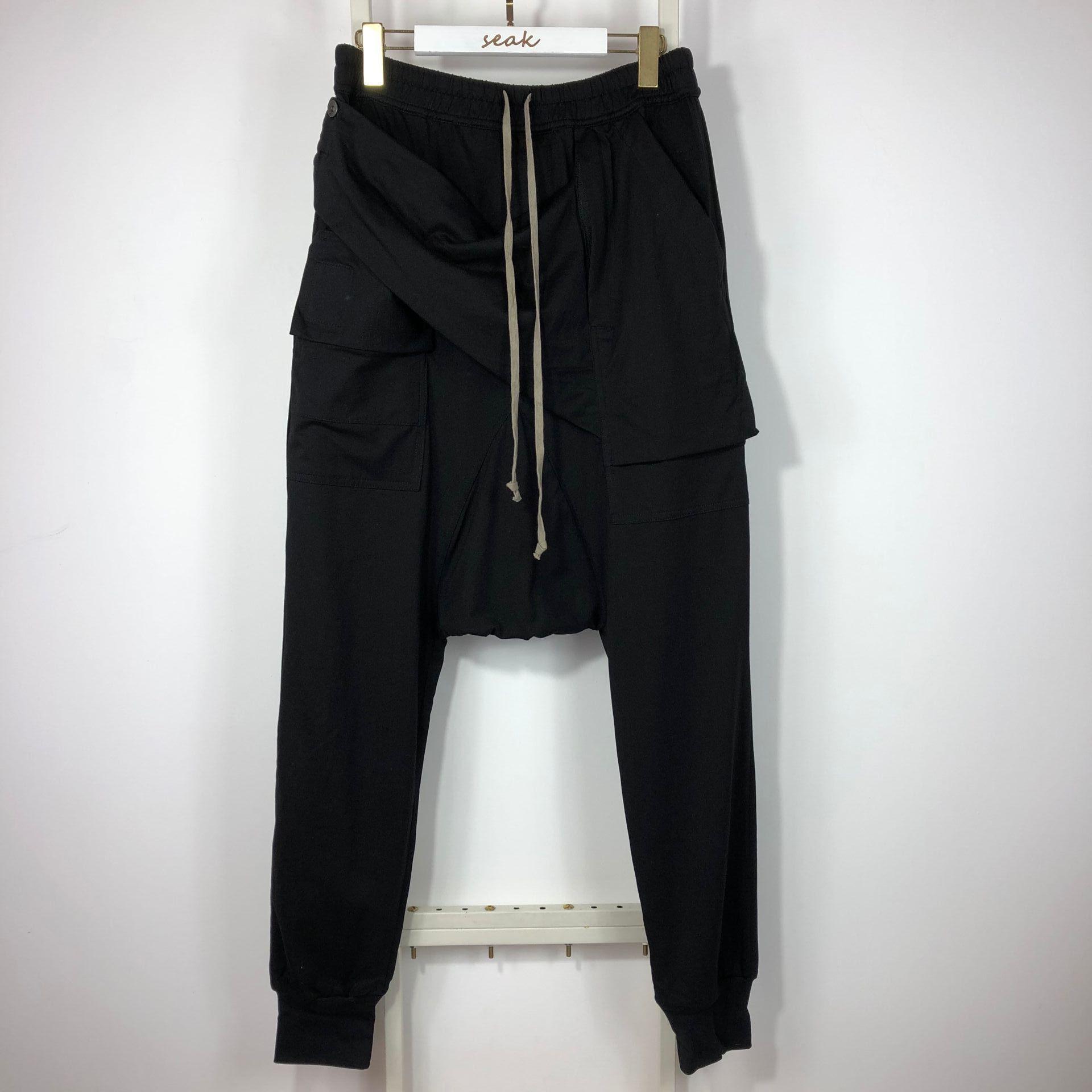 Owen Seak Hommes Casual Harem Pants Coton Gothique Vêtements pour hommes Automne Femmes Cross High Streeet Longueur Noir Versée Pantalon de survêtement C0222