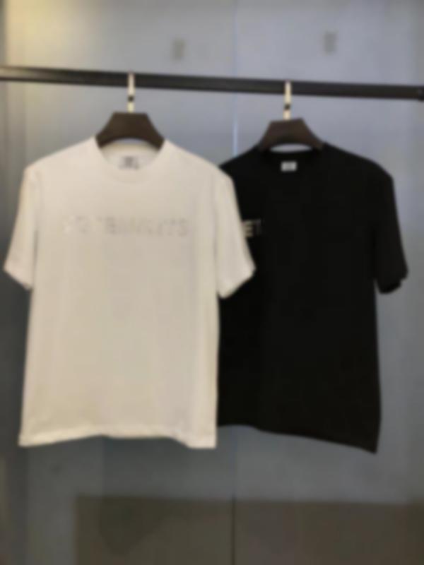 Fransız Bahar ve Yaz Yeni Moda Mektup Çıkartmalar Elmas Baskı Bayanlar T-shirt Boy erkek Rahat Pamuk Minimalist T-Shirt