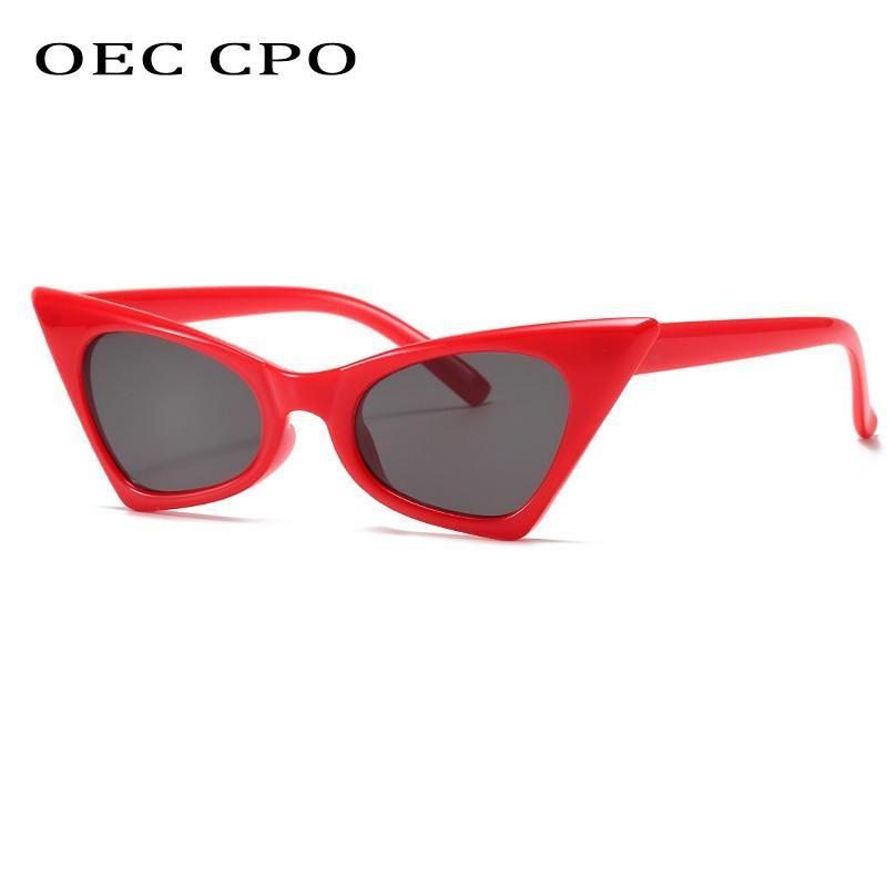 OECP CPO Vintage Ojo Gafas de sol Gafas de sol Moda Moda Sexy Pequeño Marco Gafas de sol Femenino Retro Eyewear Punk Shades