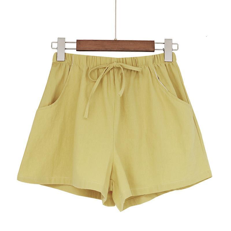 Lose laufende sommer baumwolle leinen bequeme feminino frauen elastische taille beiläufige gürtel pocket shorts
