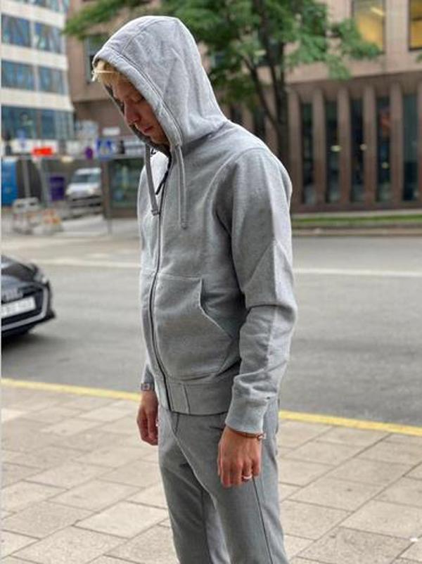 Sweat à capuche à capuche de printemps chute / hiver Haute Qualité Mode Veste Trend Modèle brodé Sweat à capuche pour hommes 7 couleurs taille m-2xl