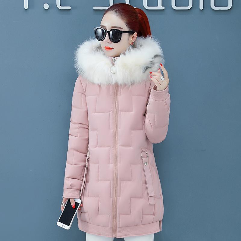 2021 mulheres jaqueta de inverno casaco de algodão acolchoado pele quente com capuz parka outwear womens casacos longos casacos parkas