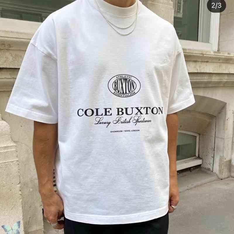 CB T-shirt Cole Buxton T-shirt Hommes Femmes Cole Buxton T-shirt 100% coton Top Top Top Top Top 210610