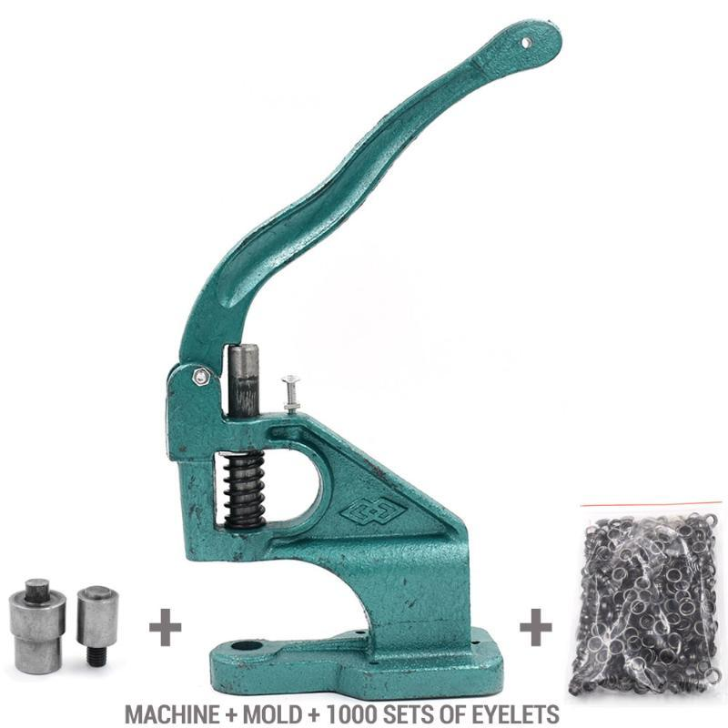 1000 sets eyelets and Machine and molds Rivets Metal hole Eyelet tool Buttons DIY Tablecloth hole Shower curtain
