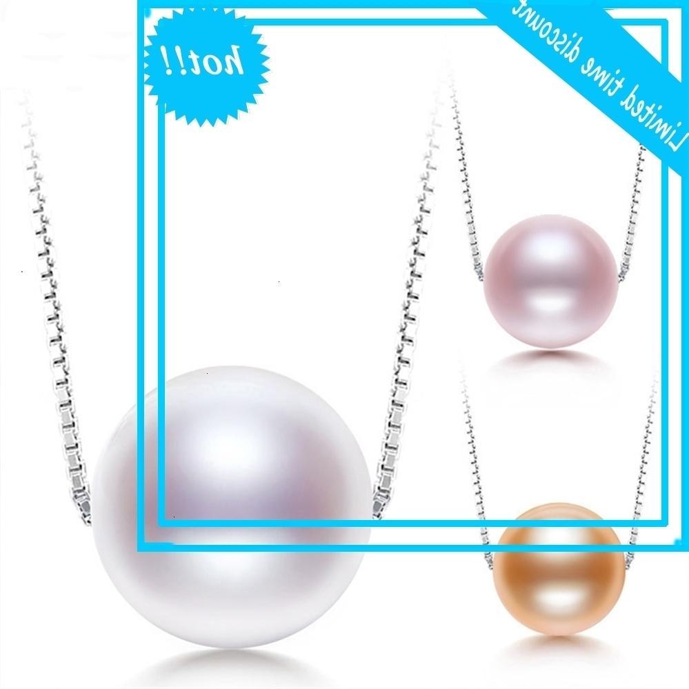 Cadena de plata esterlina de la perla de agua dulce natural S925 de NIMF para las mujeres joyas finas de moda D509