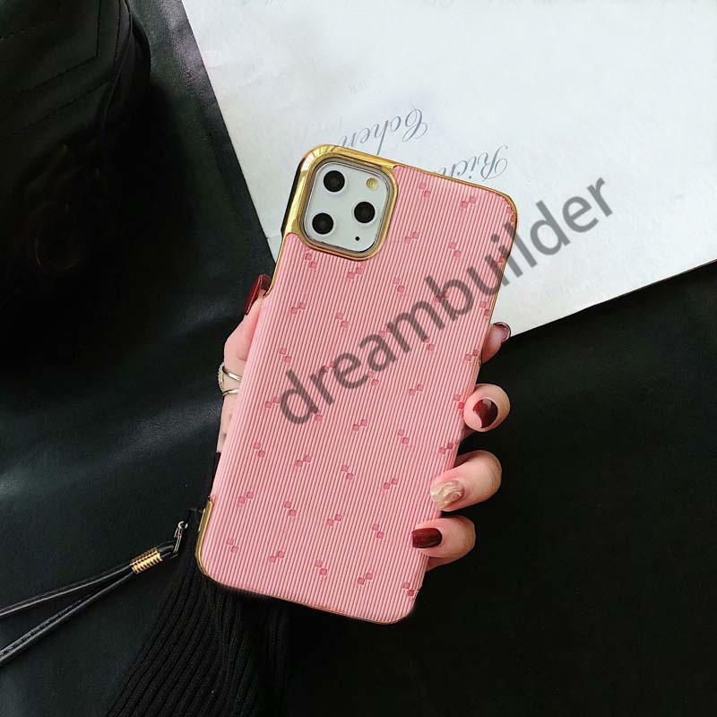 Casos de telefone de moda para iPhone 12 pro máximo 11 11PRO 11PROMAX Capa 7 8 mais x XR xs xsmax pu shell de couro com caixa