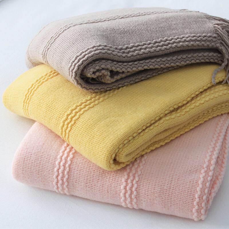 Трикотажное одеяло стильные кисточки резьбовые одеяла пледа на кровати диван бросок самолетов крышка домой домой