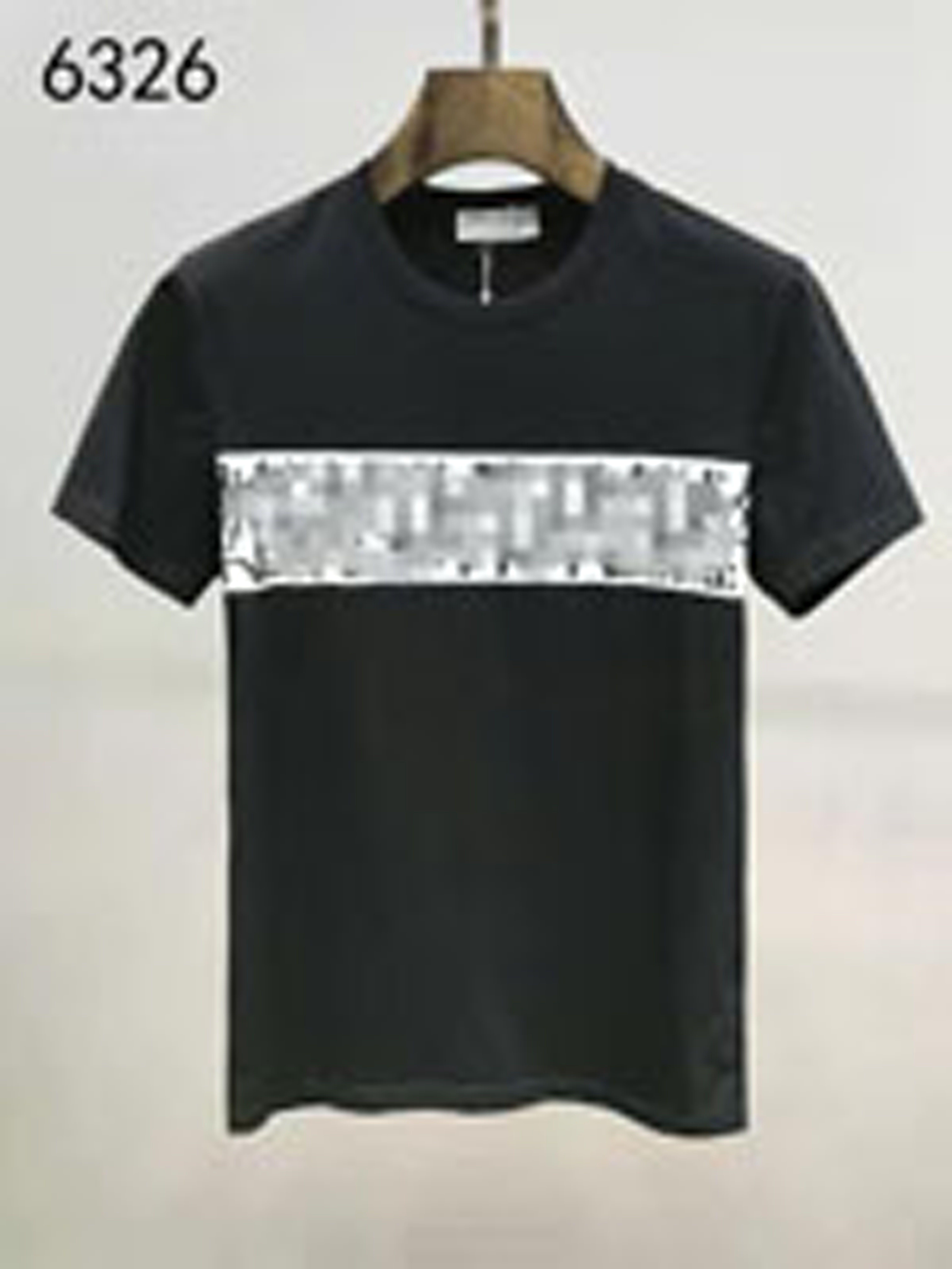 T-shirt da uomo di lusso YY T-shirt hip hop Stampa manica corta Estate Nuovo Round of Luxury Men's Cotton T-shirt All'ingrosso di alta qualità