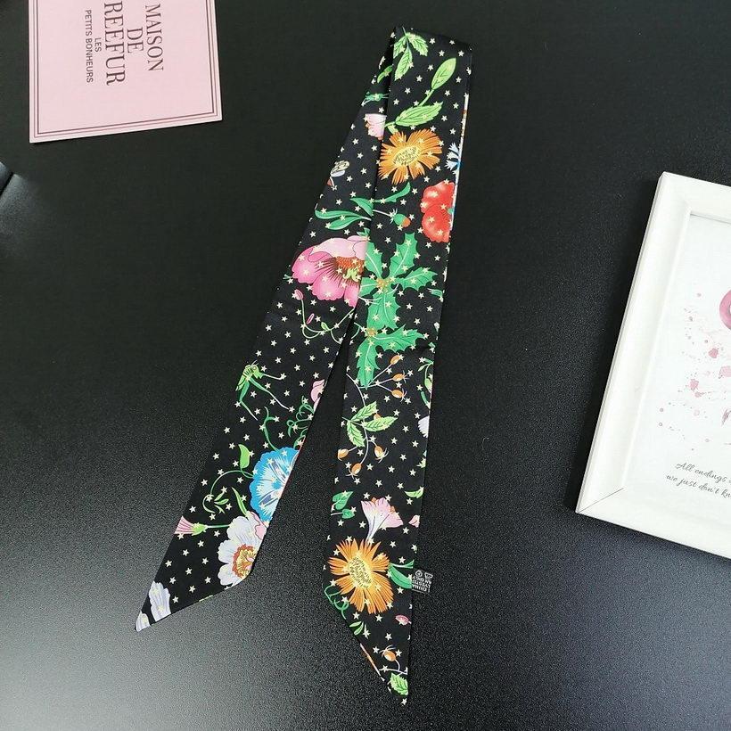 2021 Kore tarzı küçük ipek eşarp kadın bahar sonbahar dar moda uzun şerit kol çantası şerit atkısı küçük şerit