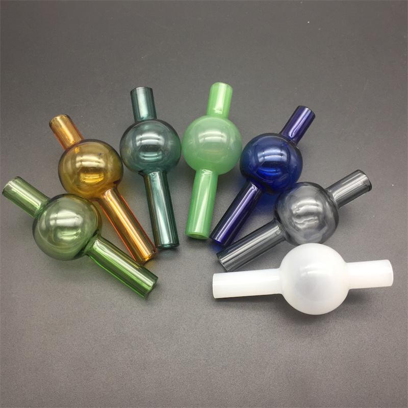 Dia 22mm Glaskugel Carb Cap Bubble für 2mm 4mm Quarz Thermal Banger 10mm 14mm 18mm Wasserleitungen Öl Rigs Bong