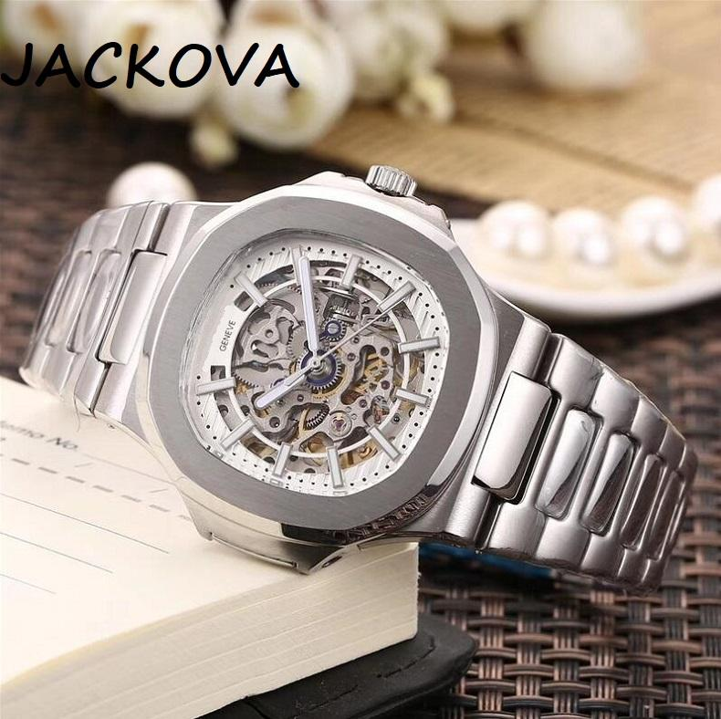 factory mens automatic mechanical watches silver strap blue gold watch stainles 316L steel waterproof wristwatch montre de luxe men watches