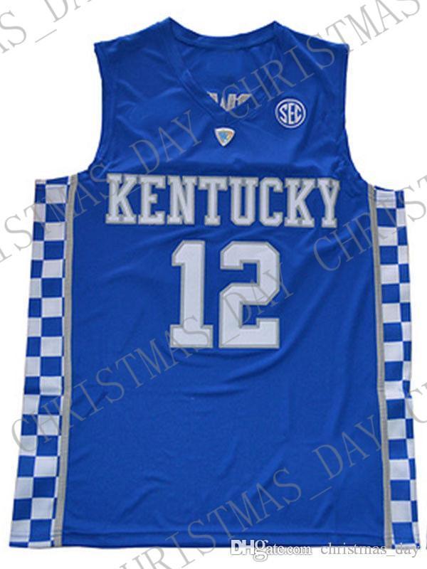 Дешевые оптом Карл-Энтони Тауны Джерси Кентукки Wildcats Blue White Silen Настроить любое имя Номер Мужчины Женщины Молодежный Баскетбол Джерси