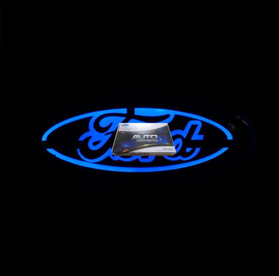 5D Araba LED Amblem Ford Rozeti Sembolleri LOGO için Arka Ampul Beyaz Mavi Kırmızı Oto Aksesuarları Boyutu 145x65mm
