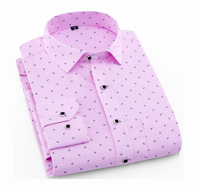 Chemises occasionnelles pour hommes à manches longues imprimer chemise à carreaux printemps été slim ajustement robe de marque mâle vêtements m-5xl