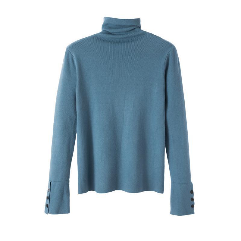 Frauenpullover 2021 Herbst und Winter Warme Mode Turtscheck Pullover Frauen Casual Langarm Slim-Strick Weibliche Strickpullover