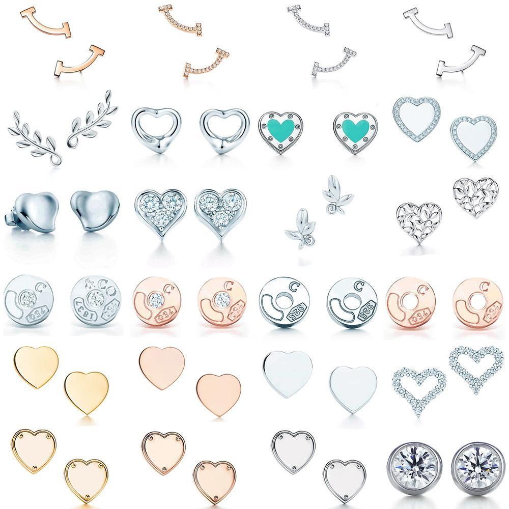 Yeni 100% 925 Ayar Gümüş Mavi Kalp Tif Çekici Elegance Mizaç Küpe Dünyası Fit Kadın Orijinal Moda Takı