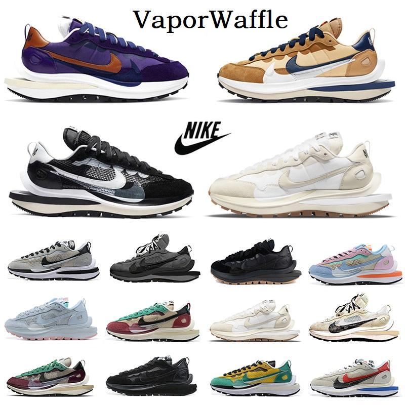 sacai para hombre de los zapatos corrientes Vaporwaffle gris claro LDV Waffle secreto x alba brillante Citron mujeres hombres entrenadores deportivos zapatillas de deporte