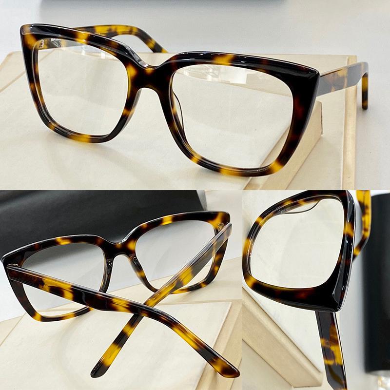 Erkekler ve Kadınlar için Optik Gözlükler Retro Kedi Göz Stili 0098 Anti-Mavi Işık Lens Plaka Tam Çerçeve Kutusu ile