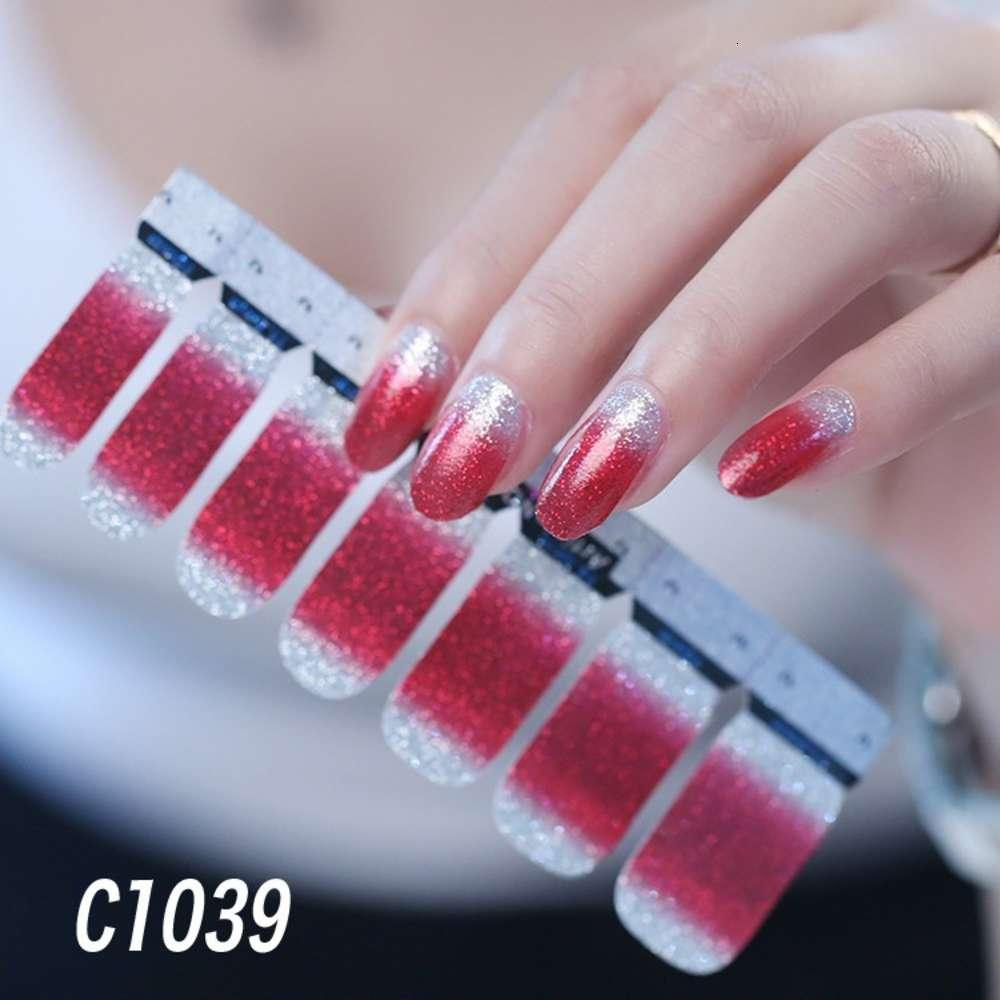 Rosa Maniküre-Aufkleber Tiktok rot schwangeres Ins Korea Wind Ornament Patch Nagel Paste Aufkleber