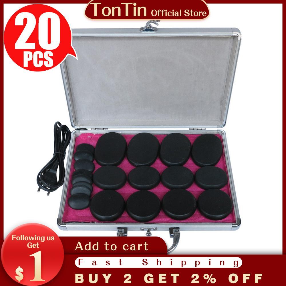 En iyi satış! 20 adet / takım Vücut Masaj Taşlar Masaj Taş Set Isıtıcı Kutusu ile Sıcak Taş YSGYP-NLS CE ve ROHS
