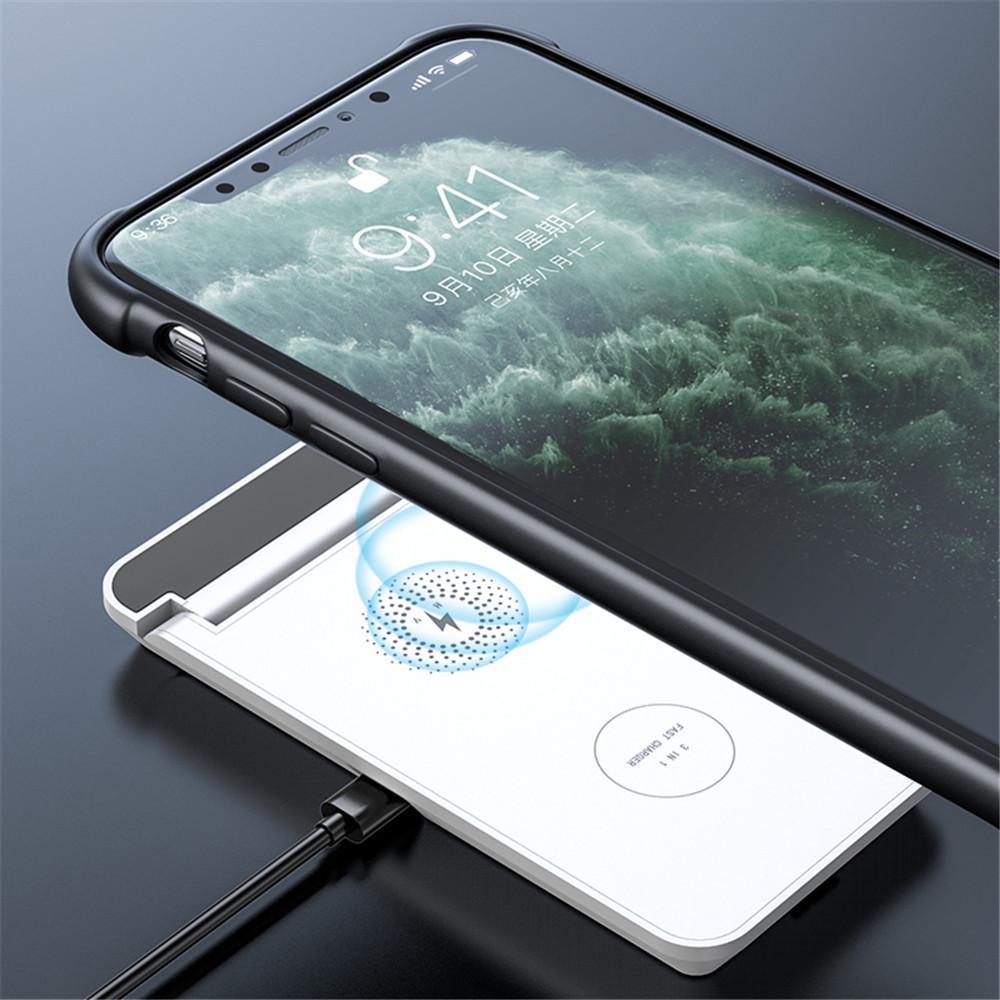 HY-18 15 W Standı Kablosuz Şarj 3 in 1 Hızlı Ücretli Telefon için Hızlı Ücret 11 Pro / XR / XS Max Samsung