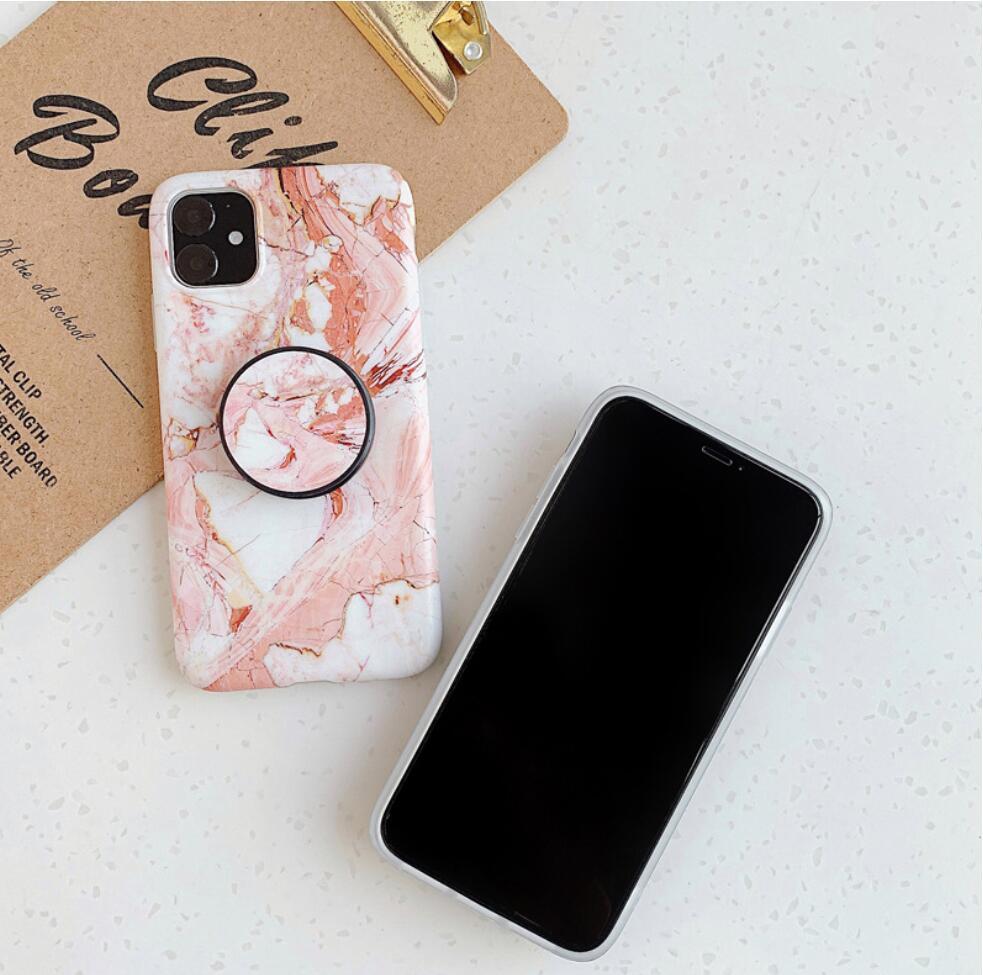 موضة الرخام حجر الهاتف حالة آيفون 12 ميني 11 برو xs ماكس xr 8 زائد لينة TPU Samsung S21 الحالات الهاتف الترا