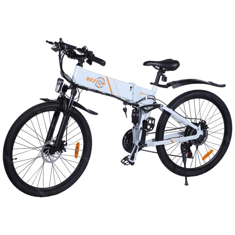 BEZIOR M26 Powerful Electric- Bicycle 2 Wheels 500W 10Ah 48V Folding Electric Bike Mountain For Adult With Removable Battery