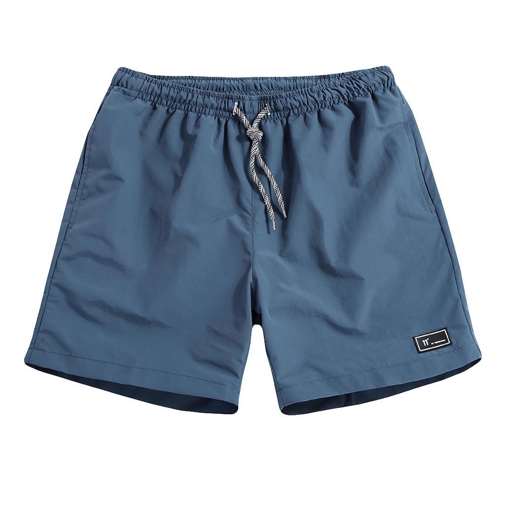 45 # Hommes Summer shorts décontractés Séchoir rapide Fitness Short Homme Beach Shorts Hommes Femmes Conseils d'affichage Élastique Taille Solide Toile de gym solide L0220