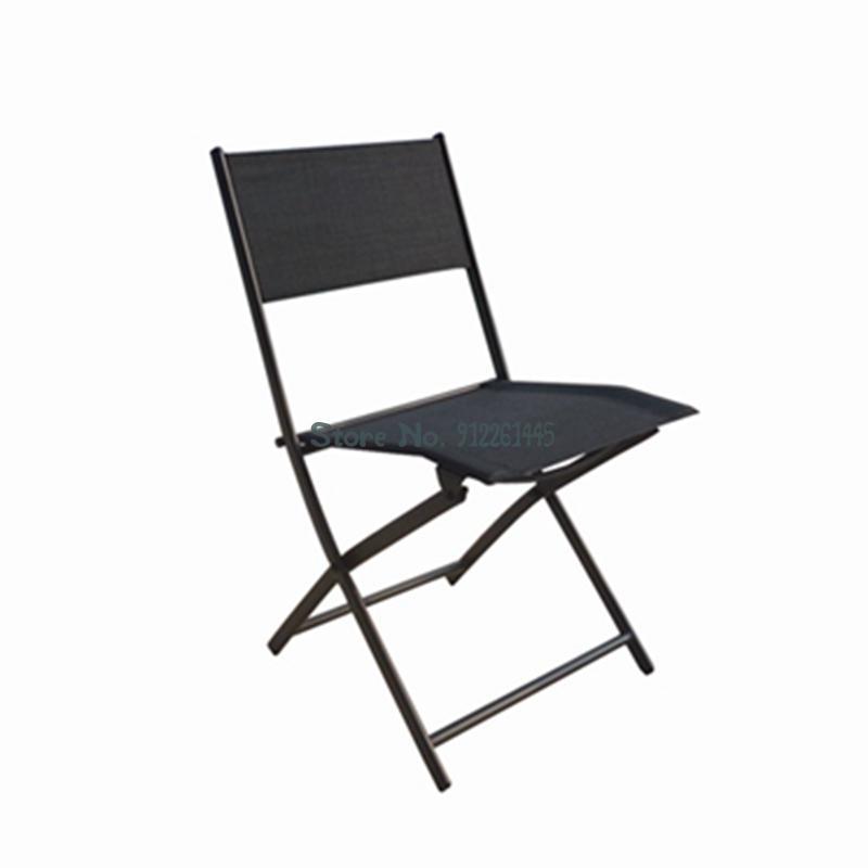 Camp Furniture Folding Chair Backrest European Outdoor Beach Garden Patio Balcony Leisure Stool Portable Household Fishing Promotion