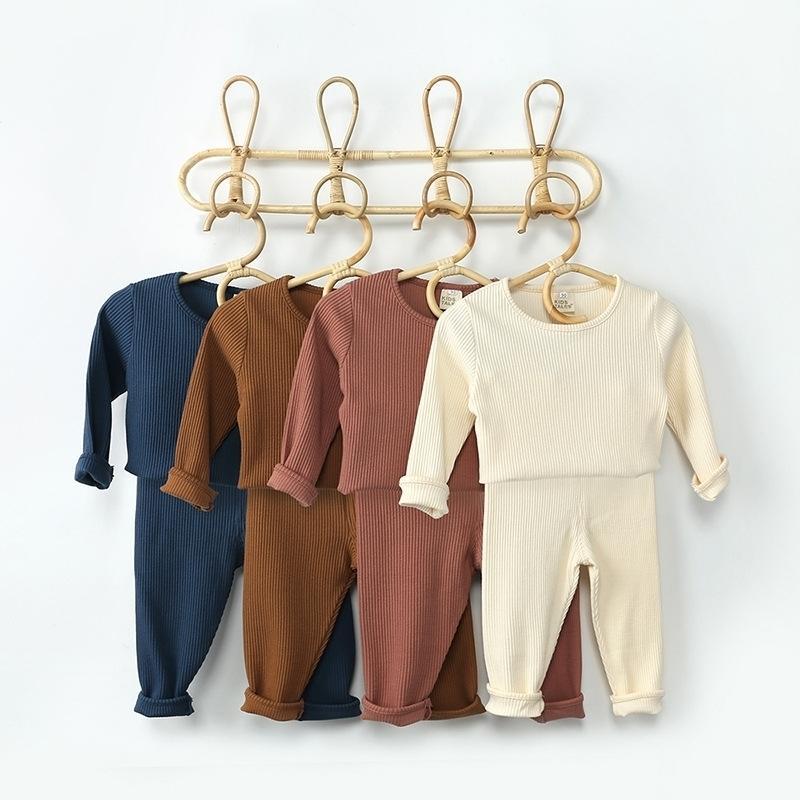 Ropa infantil para Set 2021 Spring Baby Boys Camiseta + Pantalones 2 unids Traje Traje Traje Recién nacido Ropa 210309