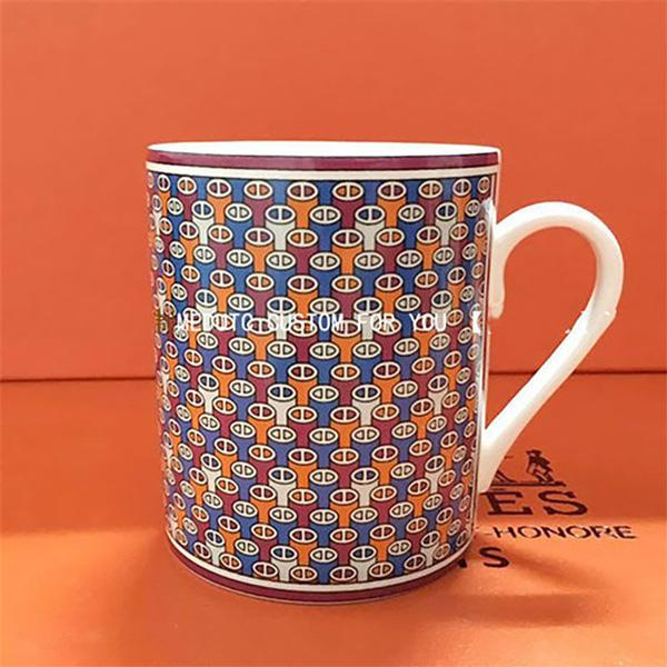 Classic Luxurious design Milk Coffee Mugs Cartoon MultiColor Mugs Cup Kitchen Tool Gift X-Mas Gift With box