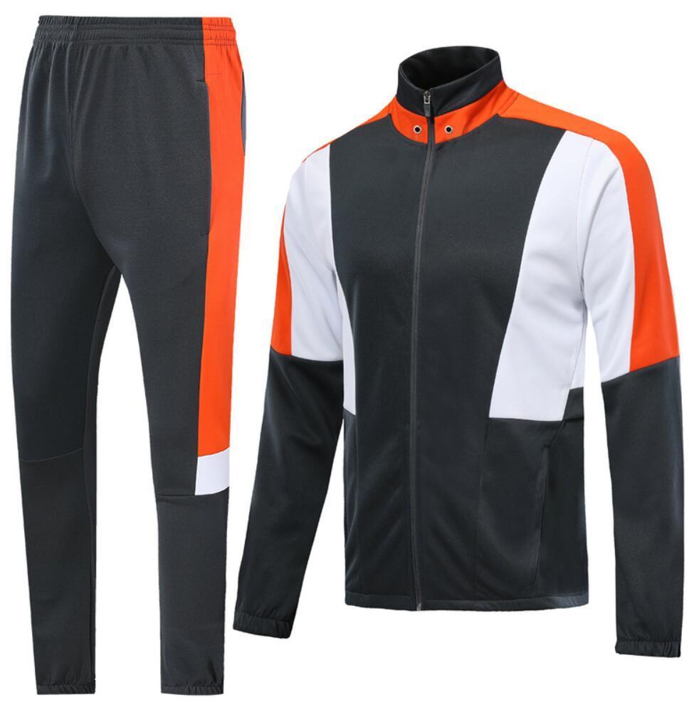 0021 Veste de style décontracté Veste Maillot de pied Survèrent Full Zipper Jogging TrackSuit Kits Taille S-XL