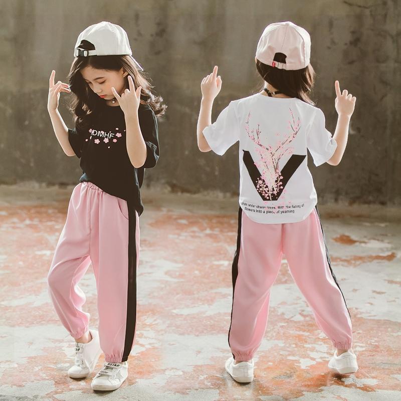 الأزياء 2022 الفتيات الملابس مجموعات ملابس الصيف قصيرة تي شيرت + السراويل الطويلة في سن المراهقة الأطفال ملابس الأطفال الدعاوى 5 6 8 9 10 12 سنة