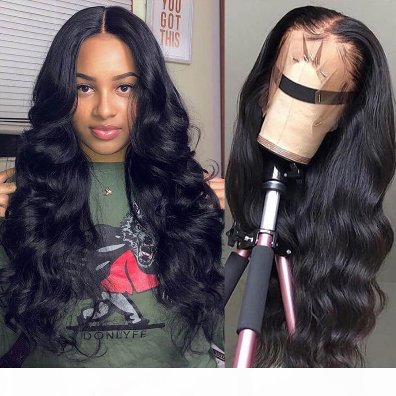 360 Perruques de dentelle de la masse corporelle Cheveux humains Brésilien Black Femmes 130% ~ 180% Densité Prépurée avec des cheveux bébé 100% non transformés Vierge Humains Hair