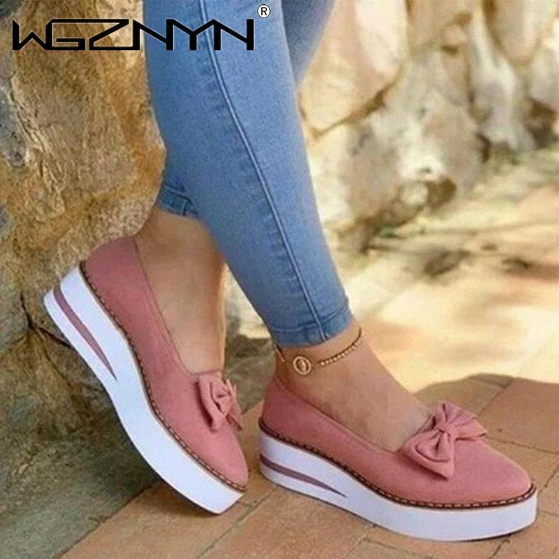 Классические женские туфли платформы для платформы слитки на замшевые женские мокасины случайные цветочные туфли женщины квартиры Zapatos de Mujer 2020 K4PG #