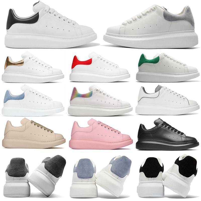 2021 Concepteurs de luxe de luxe Chaussures de sport Hommes Femmes Fashion Platform Sneakers Triple Noir Cuir Blanc Gris Gris Argent Rose Pink Mens d'extérieur Chaussures