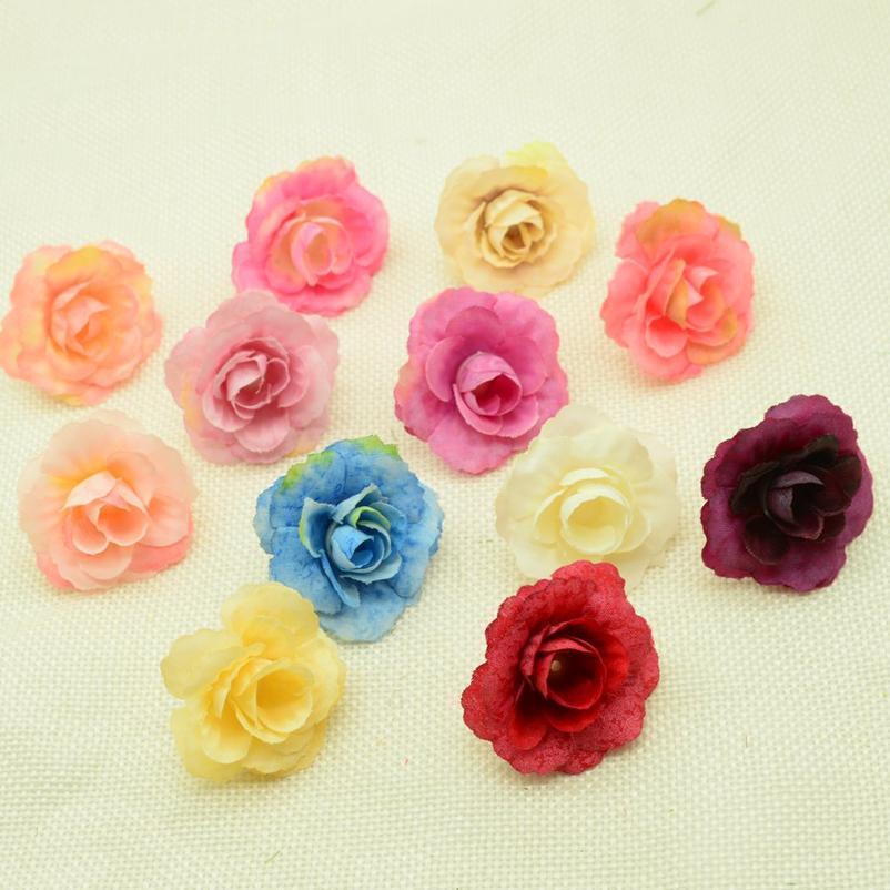50 pcs flores artificiais casamento decoração de casa acessórios nupciais liberação diy christmas coroa de presente caixa de presente falso si jllnru
