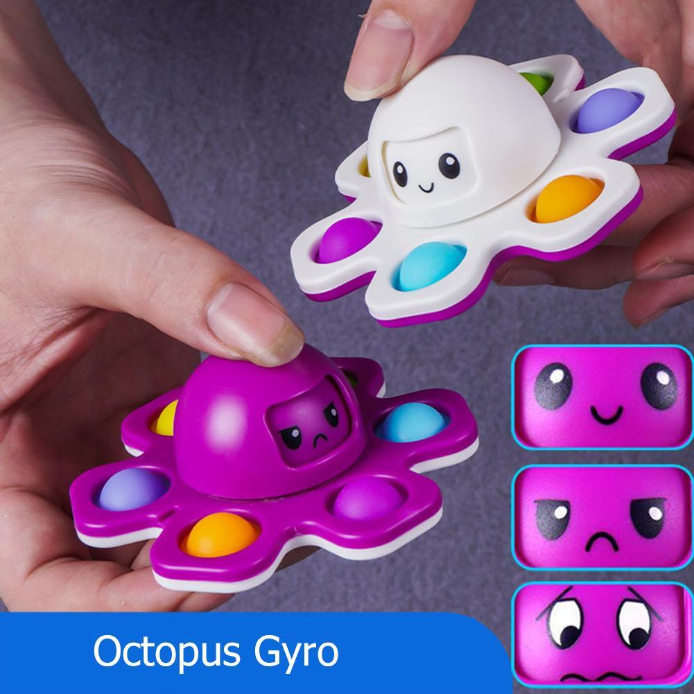 Fidget Toys Flip Visage Changer de push Toy Bubble Toy Silicone Touche Silicone Finterip Gyro Décompression Jeu créatif Jeu Creative Sensory Stress Stress Stress Stress