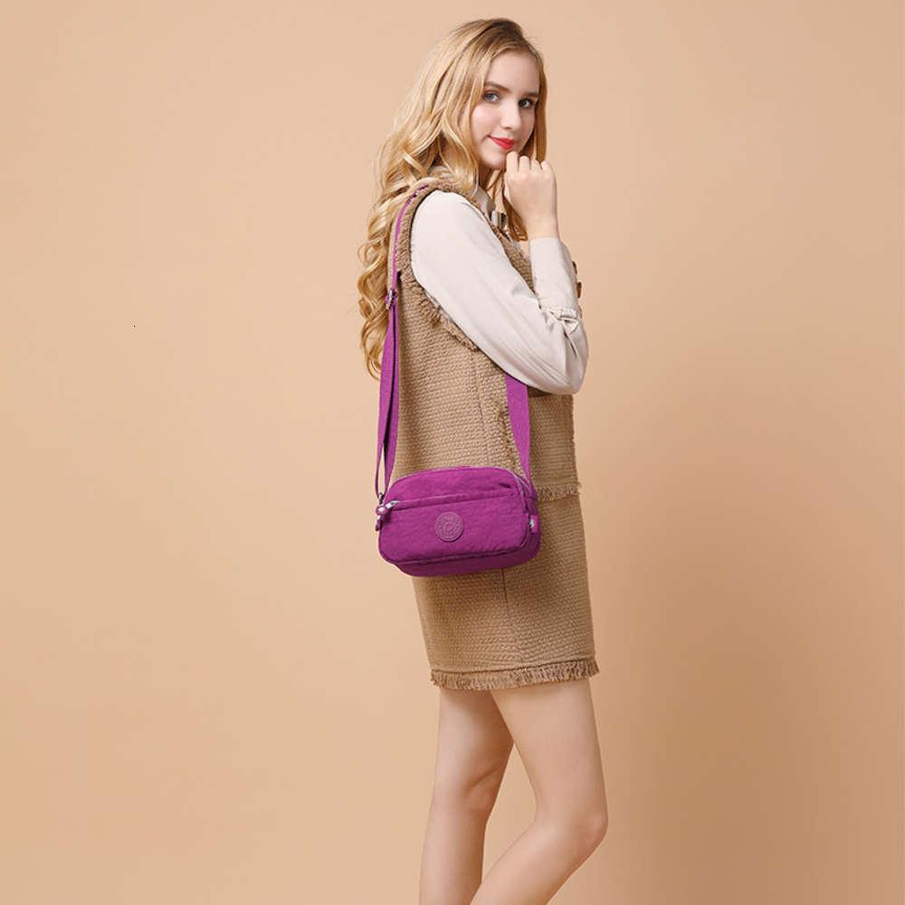 Súper alto Ocio Impermeable Nylon Bag Single Slant Span Span Bag Bag Bolsa de viaje para mujeres