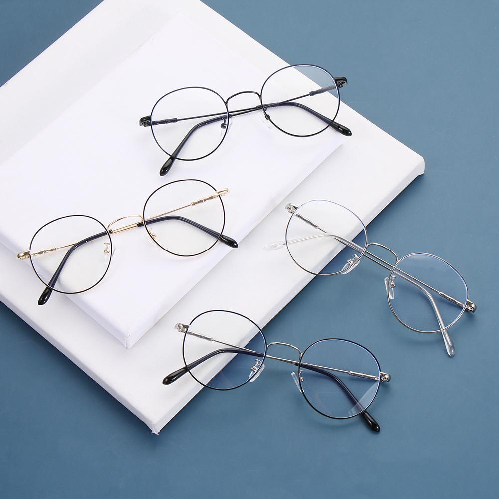 Óculos redondos Anti Blue Ray Óculos Ópticos Ópticos Espetáculo UV Bloqueio Anti Brilho J0223