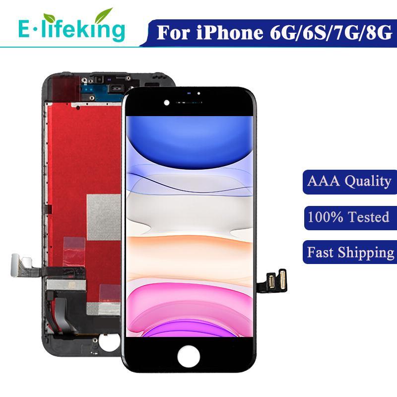 LCD ad alta luminosità per iPhone 6 6S 7 8 Display Pannello touch screen Pannello Digitizer Assembly 7G 8G Sostituzione AAA +++ Testato al 100%