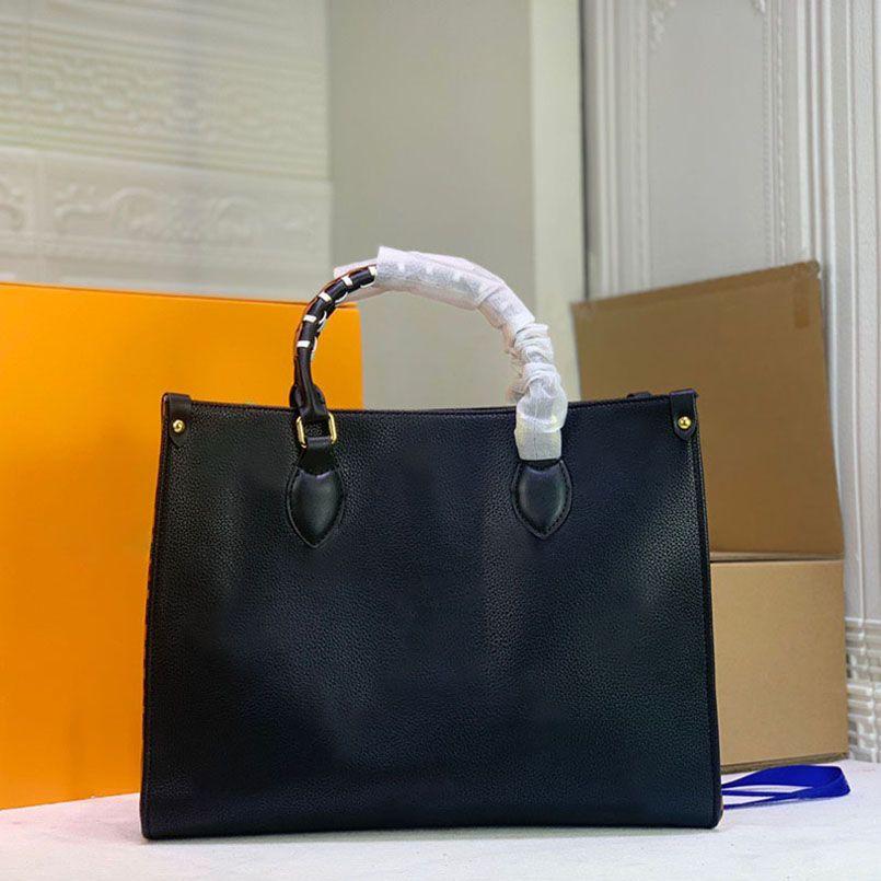 M45373 M45719 Leopard Silk Screen totes Bolsa de designer de luxo para mulheres bolsa de ombro moda em relevo grande capacidade de couro de mulher dupla handlebags 44570