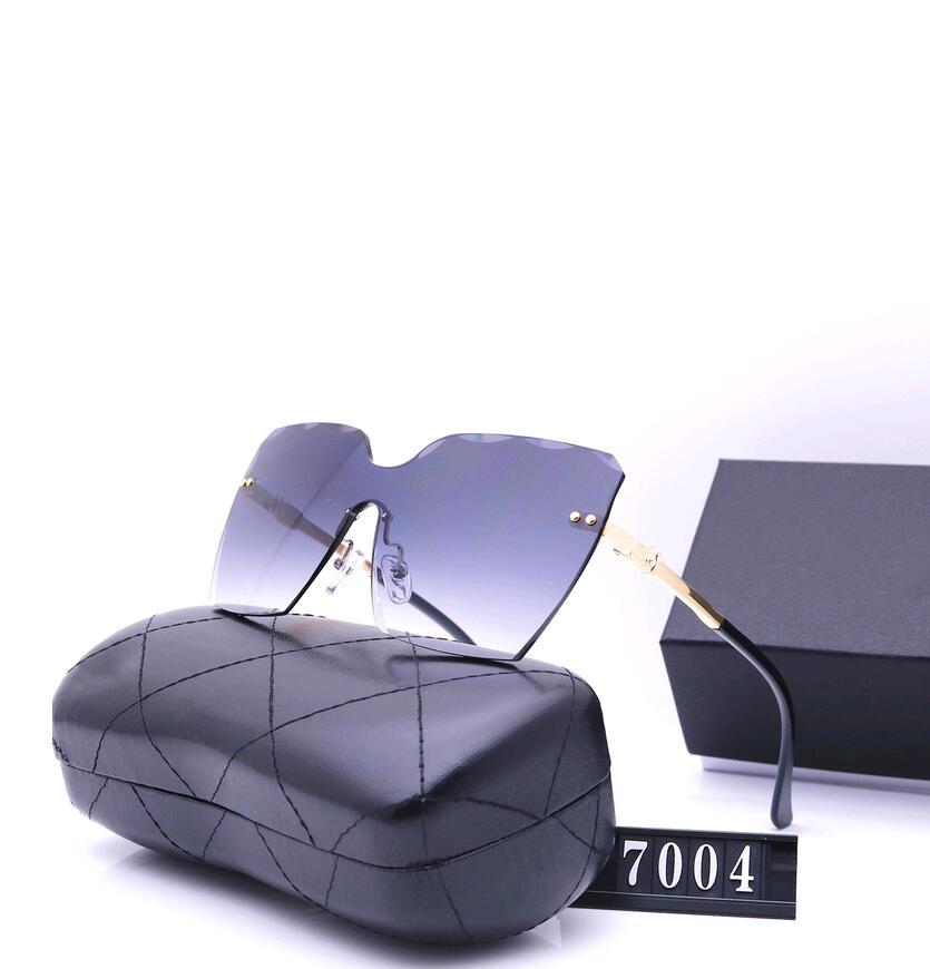2021DESigner Роскошные мужчины и женщины бренда солнцезащитные очки мода овальные солнцезащитные очки ультрафиолетовые защитные объективные покрытия безрамоглаемая покрытая рамка с корпусом коробки